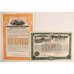 Western Maryland RailroadCo Bonds (2)  (86977)