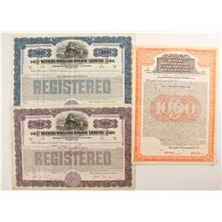 Western Maryland Railway Co Bonds (3)  (86976)