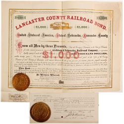 Lancaster County Railroad bond  (83820)
