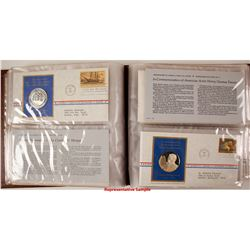 Postmasters of America Medallic First Day Covers - Set of 41 - The Franklin Mint  (79566)