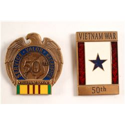 Vietnam 50th Anniversary Pins  (88644)