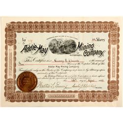 Addie May Mining Company Stock Certificate  (57025)