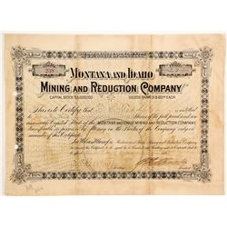 Montana and Idaho Mining and Reduction Company Stock  (88004)