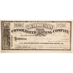 South Mountain Consolidated Mining Company Stock - G. T. Brown Lithographer  (88125)
