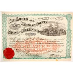 St. Louis and Morgan County Mining and Smelting Company Stock  (87941)
