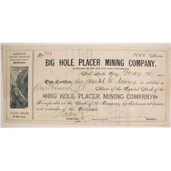 Big Hole Placer Mining Company Stock  (87960)