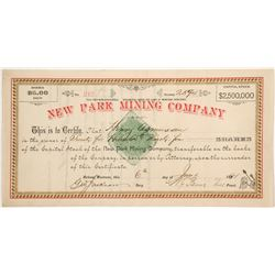 New Park Mining Company Stock  (87972)