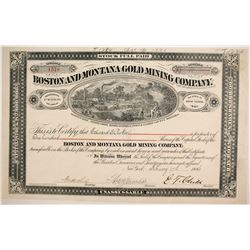 Boston and Montana Gold Mining Company Stock  (87957)