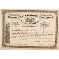 Penobscot and Snowdrift Consolidated Mining Company of Montana Stock  (87962)
