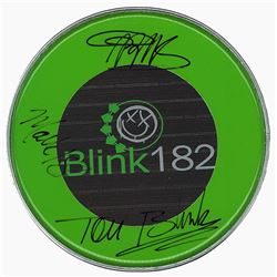 Blink 182 Signed Drum Head