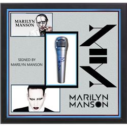 Marilyn Manson Signed Microphone