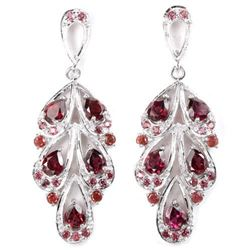NATURAL AAA PURPLISH PINK RHODOLITE Earrings