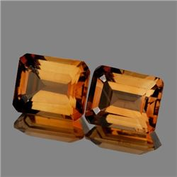 Natural AAA Champagne Imperial Topaz Pair 10x8 MM - FL