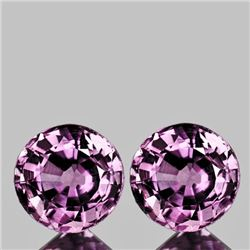 Natural Sparkling Violet Pink Burma Spinel Pair 6.00 MM
