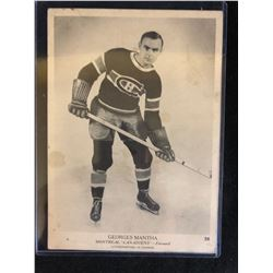 ORIGINAL 1935 CROWN BRAND GEORGES MANTHA 5 X 7 CARD