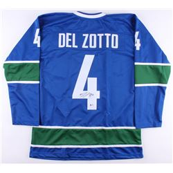 MICHEAL DEL ZOTTO SIGNED VANCOUVER CANUCKS HOCKEY JERSEY ( BECKETT COA)