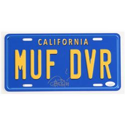 TOMMY CHONG SIGNED MUFF DIVER LICENSE PLATE