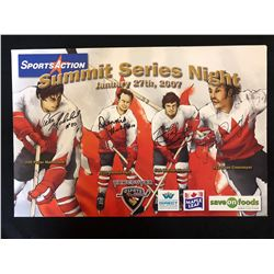 VANCOUVER GIANTS 12 X 18 PRINT SIGNED BY DIONNE, HULL. CORNVOYER, MAHOVOLICH