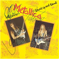 Metallica Signed Interview Stand Up and Shout Album