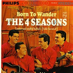 The 4 Seasons Band Signed Born To Wander Album