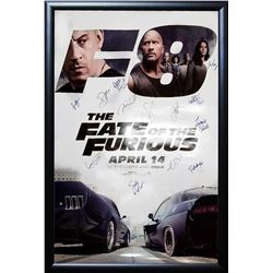 Fate of the Furious Signed Movie Poster