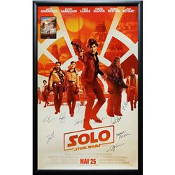 Solo A Star Wars Story - Signed Movie Poster