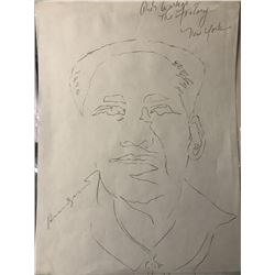 Andy Warhol Signed The Factory Sketch