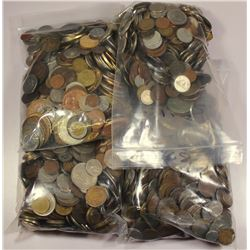 20 POUNDS OF UNSEARCHED FOREIGN COINS