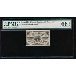 3 Cent Fractional Currency Note PMG 66EPQ