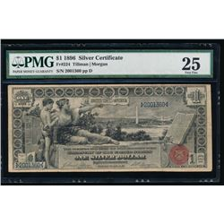 1896 $1 Educational Silver Certificate PMG 25