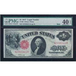 1917 $1 Legal Tender Note PMG 40EPQ