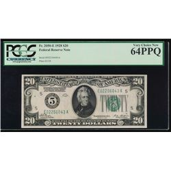 1928 $20 Richmond Federal Reserve Note PCGS 64PPQ