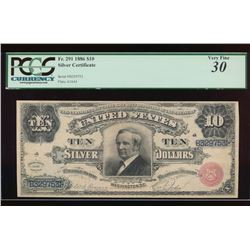1886 $10 Silver Certificate PCGS 30