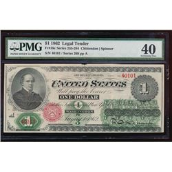 1862 $1 Legal Tender Note PMG 40