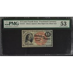 15 Cent Fourth Issue Fraction Note PMG 53