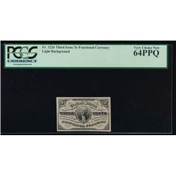 3 Cent Fractional Currency Note PCGS 64PPQ