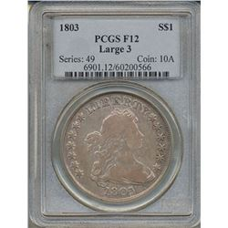 1803 $1 Liberty Bust Dollar Coin PCGS F12