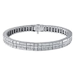 14KT White Gold 7.50ctw Diamond Bracelet