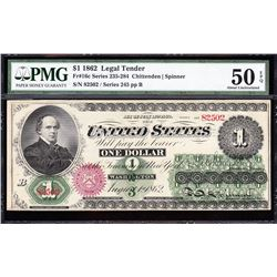 1862 $1 Legal Tender Note PMG 50EPQ