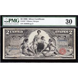 1896 $2 Educational Silver Certificate PMG 30