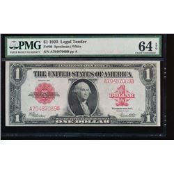 1923 $1 Legal Tender Note PMG 64EPQ