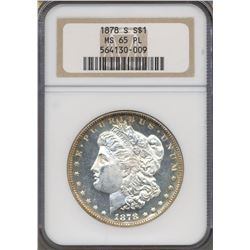 1878-S $1 Morgan Silver Dollar Coin NGC MS65PL