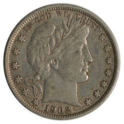 1902 Barber Half Dollar Coin