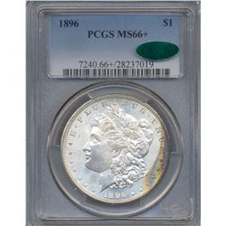 1896 $1 Morgan Silver Dollar Coin PCGS MS66+ CAC