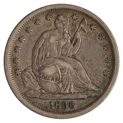 1838 Seated Liberty Small Stars Dime