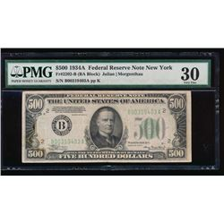 1934A $500 New York Federal Reserve Note PMG 30