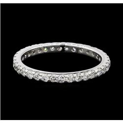 0.50 ctw Diamond Eternity Ring - 14KT White Gold