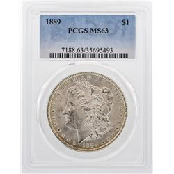 1889 $1 Morgan Silver Dollar Coin PCGS MS63