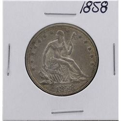 1858 Seated Liberty Half Dollar Coin