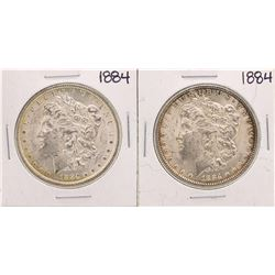 Lot of (2) 1884 $1 Morgan Silver Dollar Coins